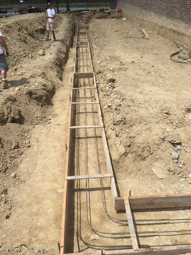 Detailed View Rebar & Trench