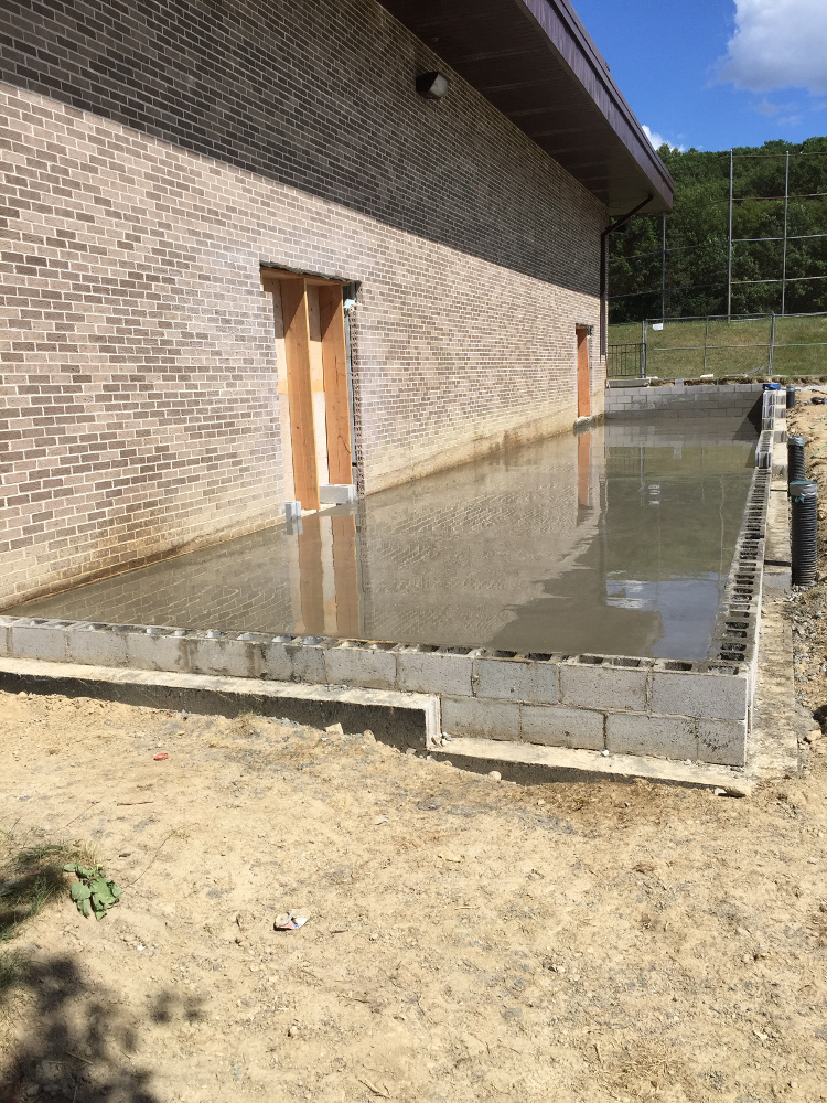 Cinder Blocks & Poured Foundation Slab
